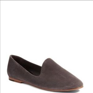 Vince💕Gray Suede Woodsmoke Loafers Slip On Flats